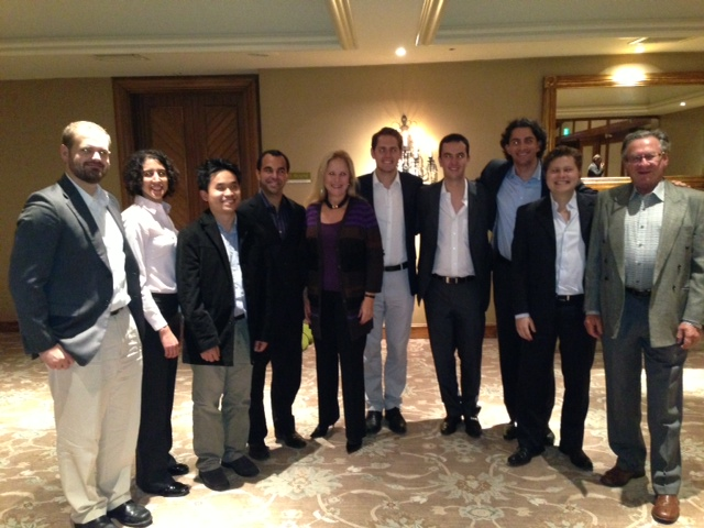 Larraine and Clive with UCLA MBA candidates Dinner for 8 at Hillcrest 2013