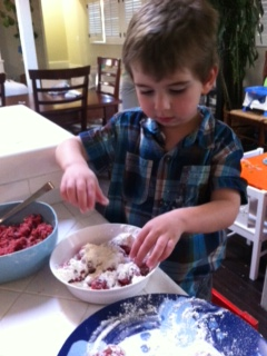 Jonah making meatballs Jan 2013