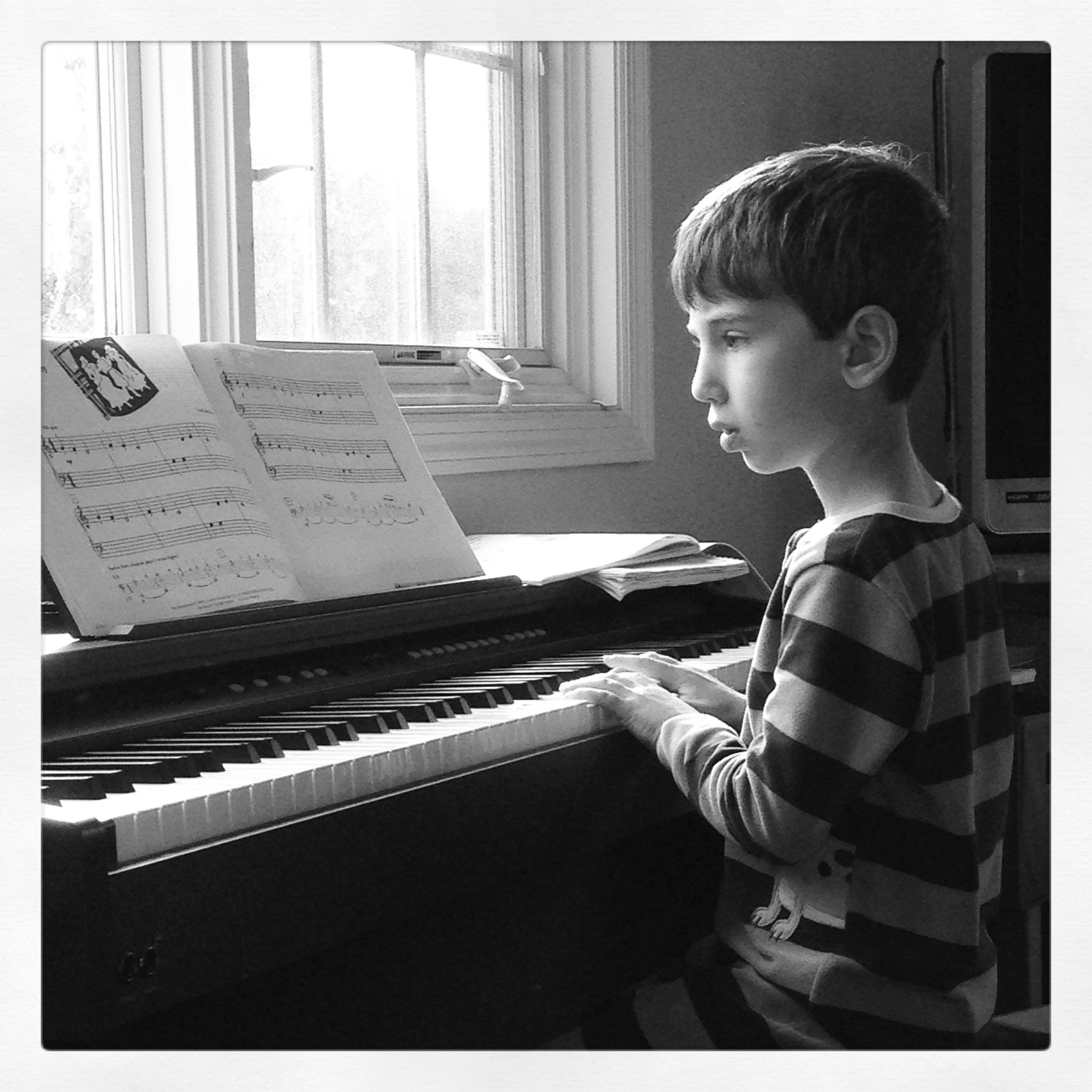 Jack playing piano sept 2013