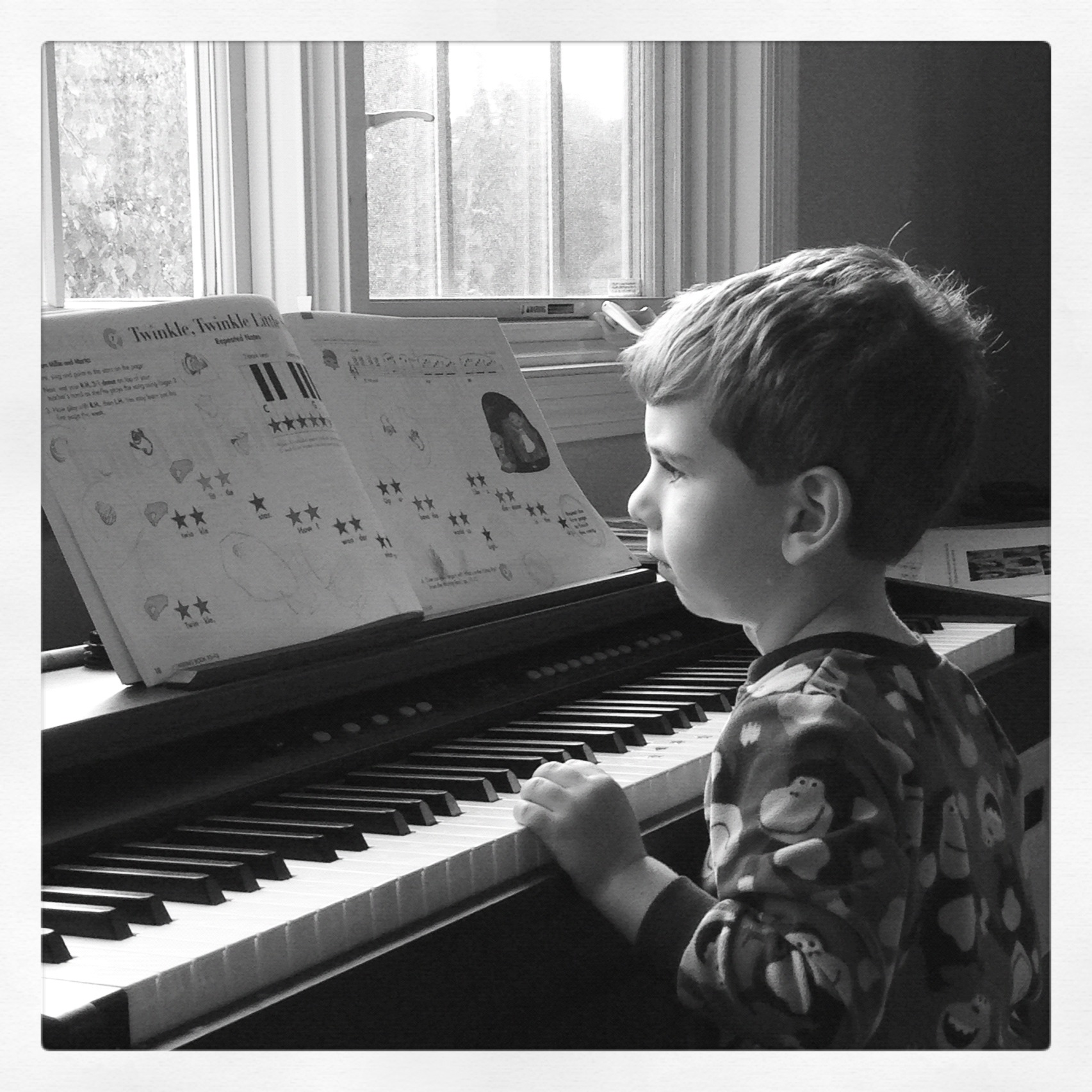 Jonah playing piano Sept 2013