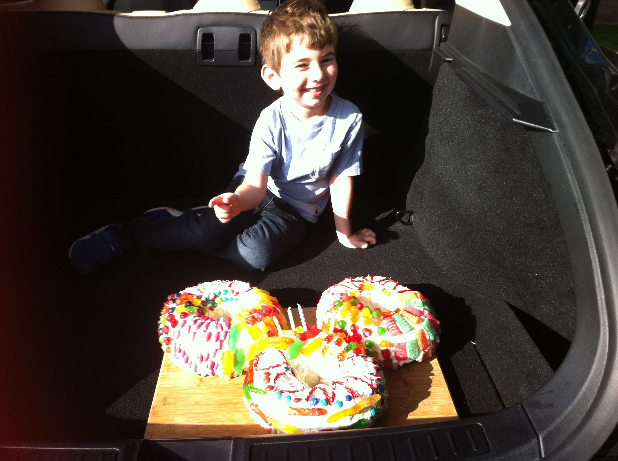 Jonah and his Candy Cake Jan 2014 5th bday