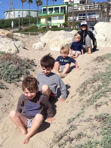 Jack jonah noah Gabe at beach April 2014