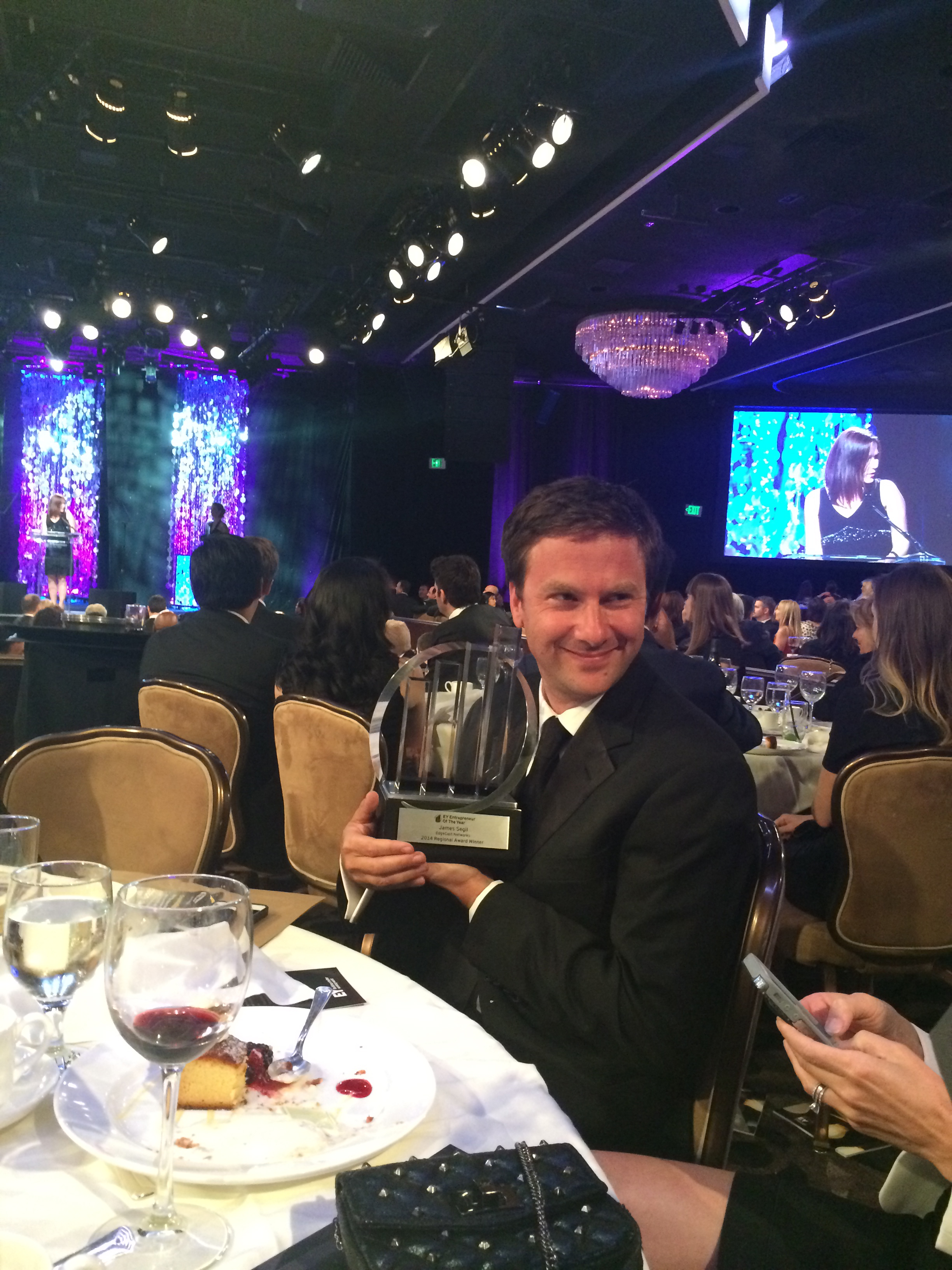 James winning EY award for LA 2014