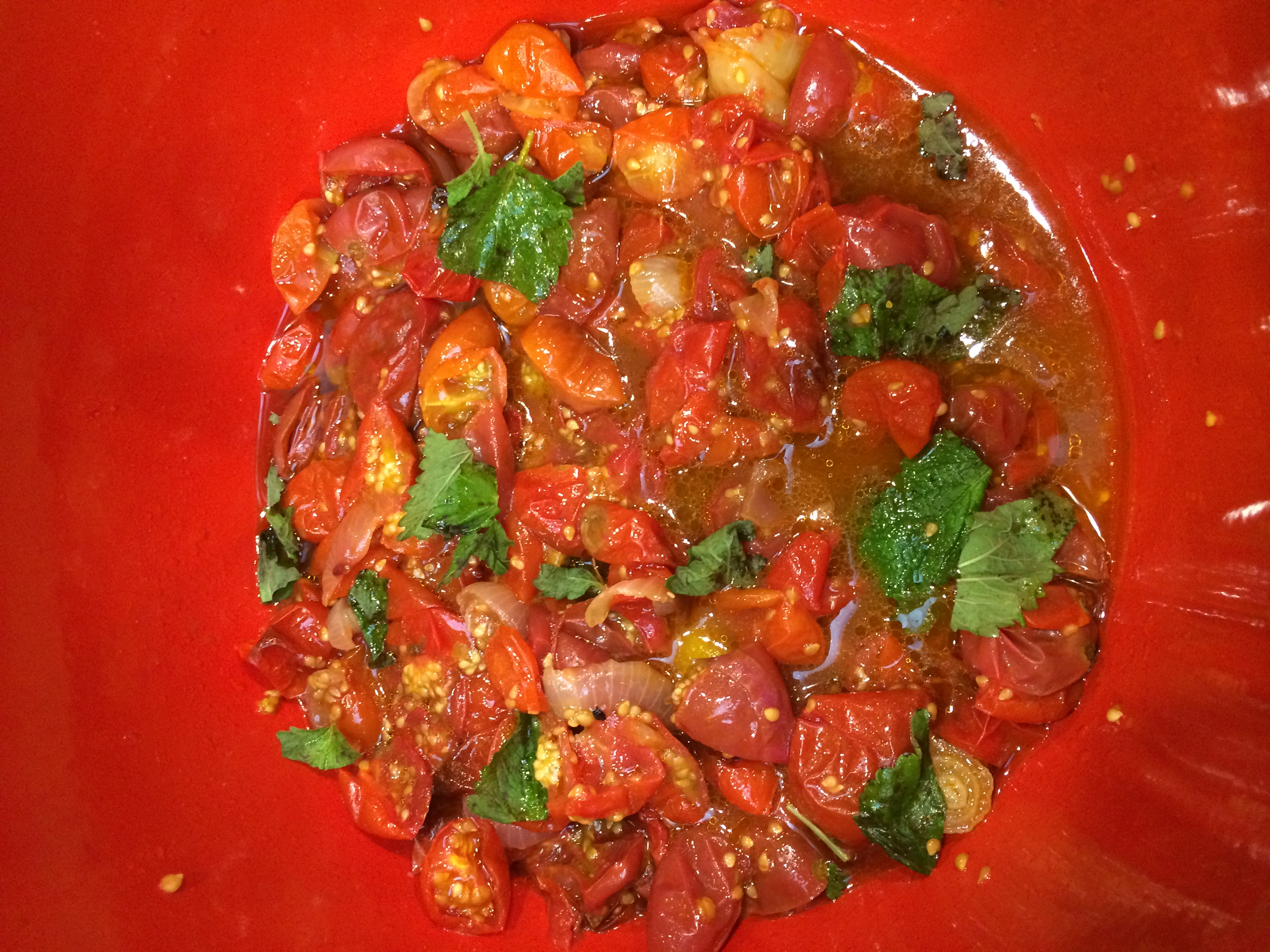 Recipes Cherry Tomatoes and Mint Salad July 2013