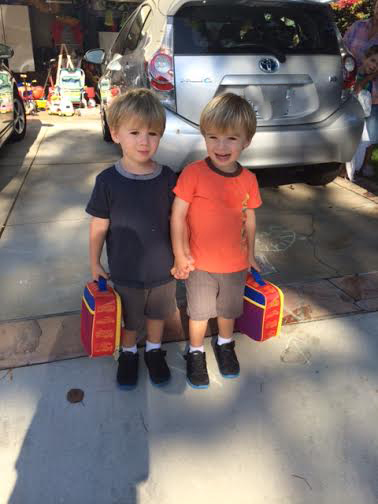 Noah and Gabe first day at preschool amended Aug 2014