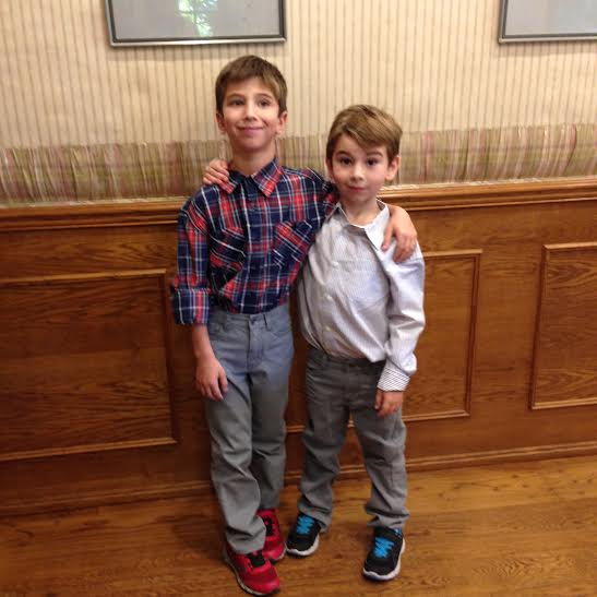 Jack and Jonah in new clothes 2014 Nov