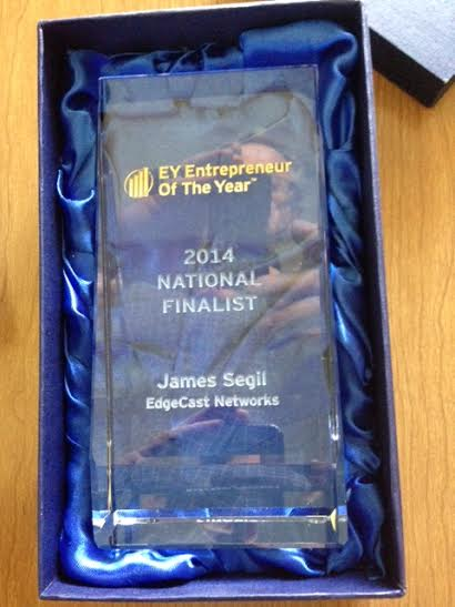 James Award from EY as National Award Finalist for Tech for 2014 in whole usa