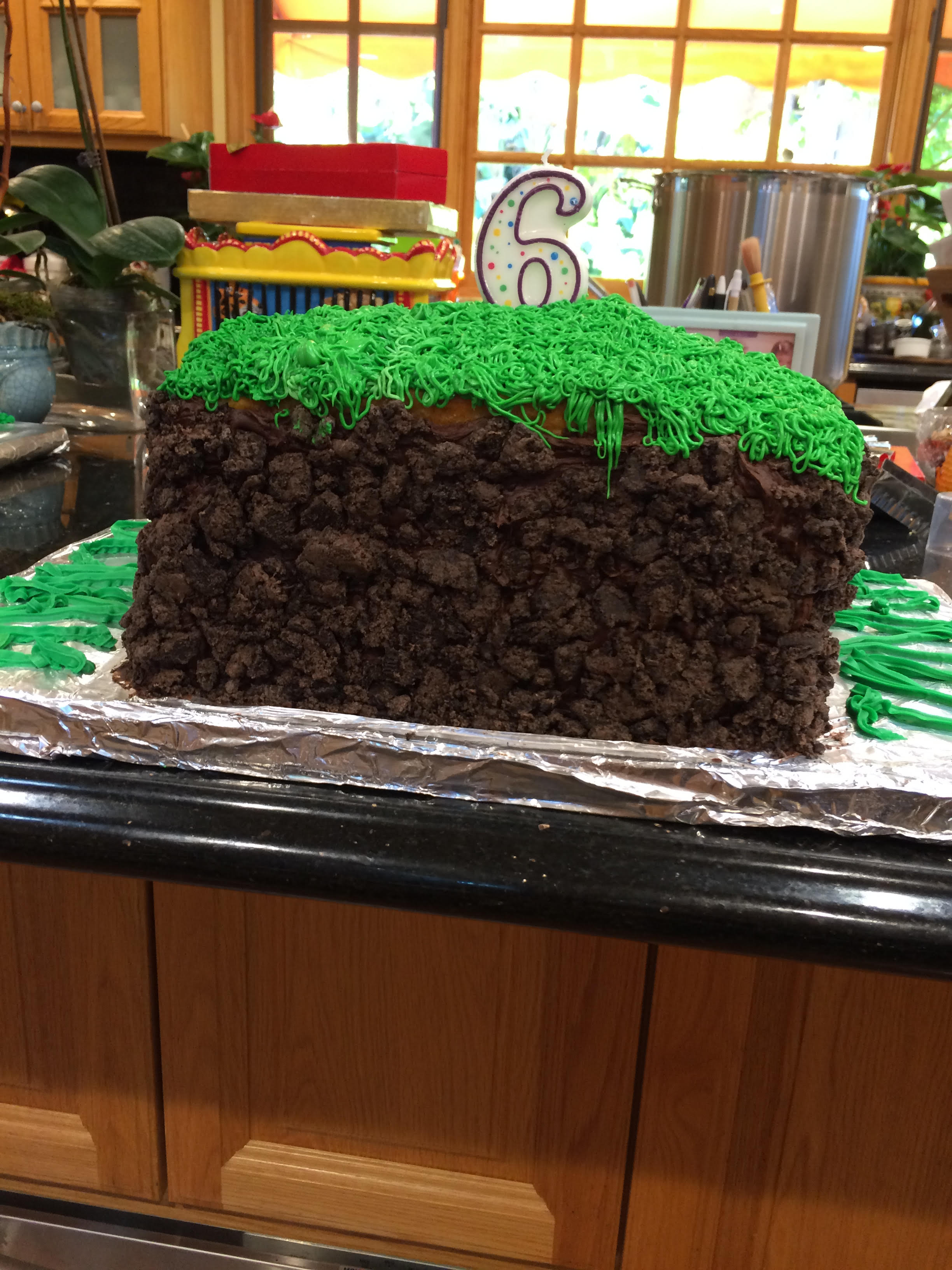 Minecraft Grass Sod Cake