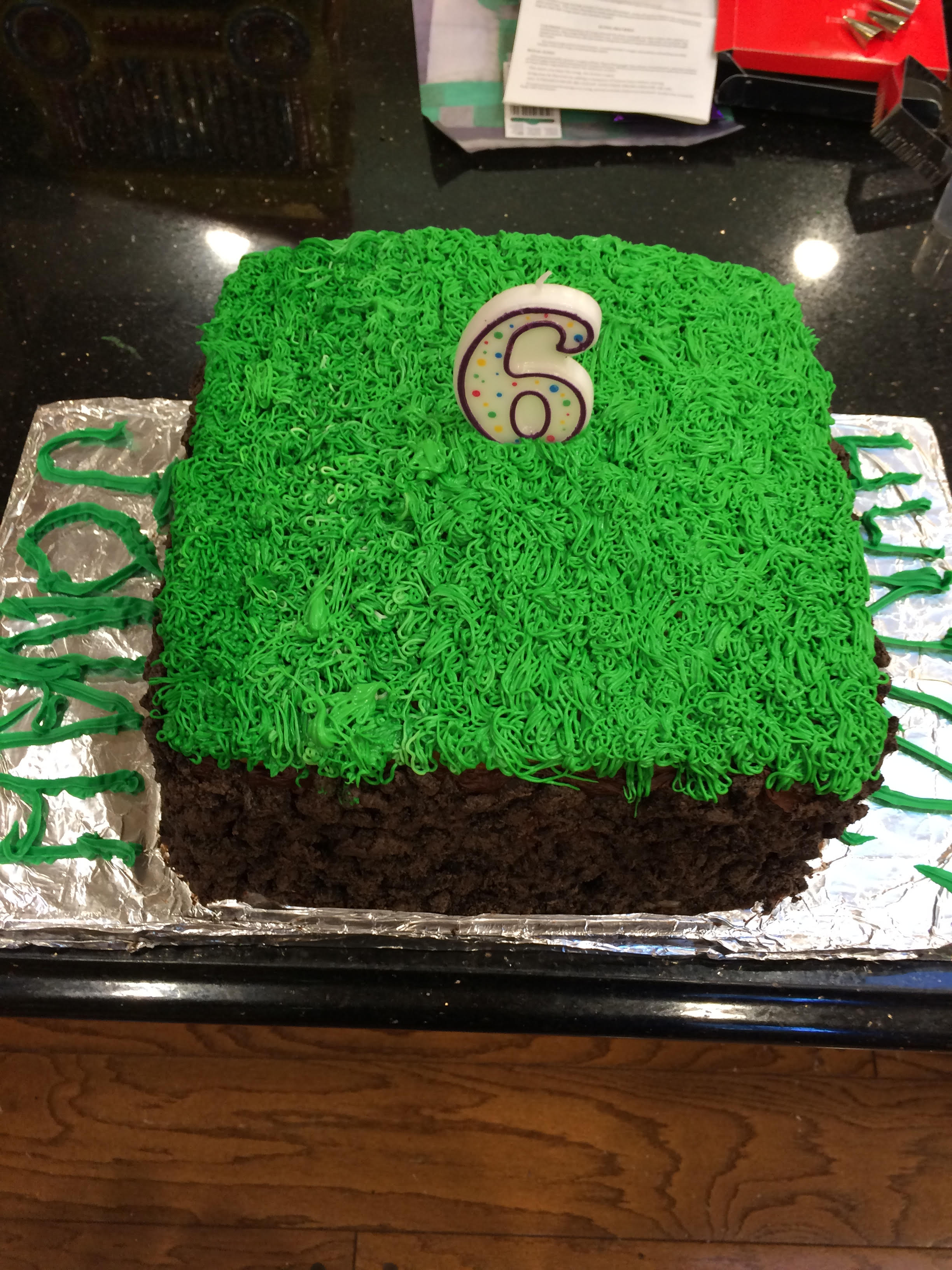Minecraft grass sod cake 2