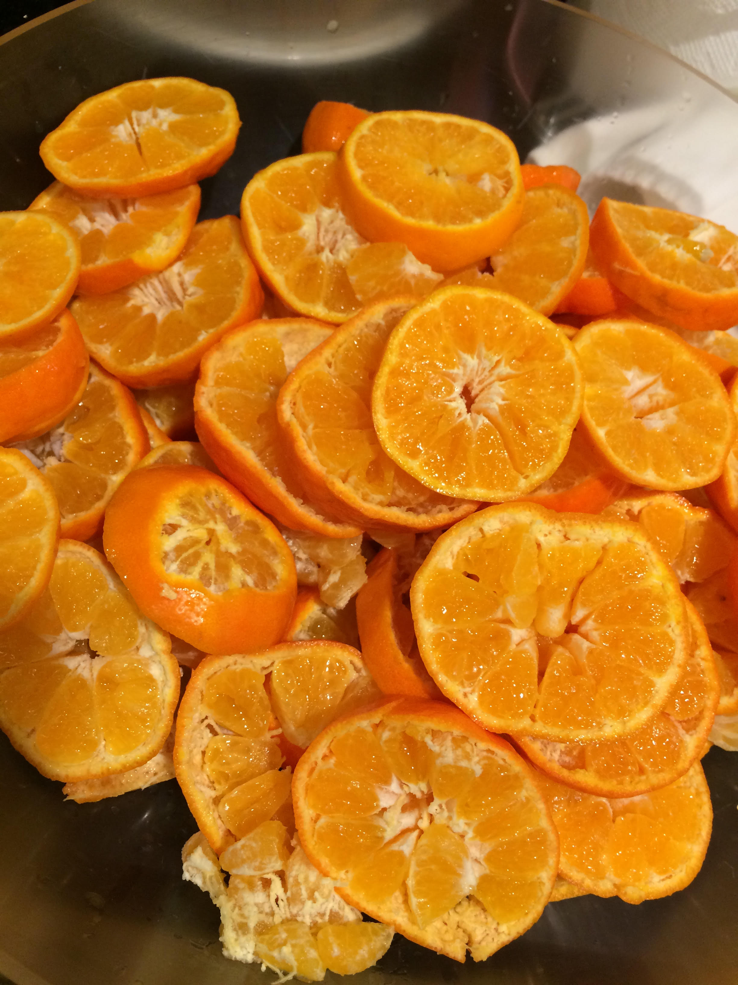 Tangerines Cut and sliced 2015