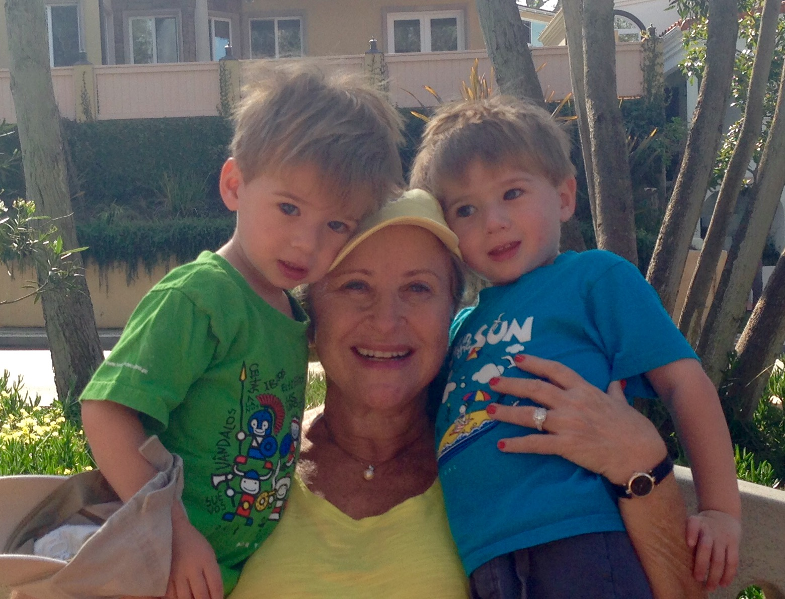 Noah and Gabriel March 17 2015 with larraine