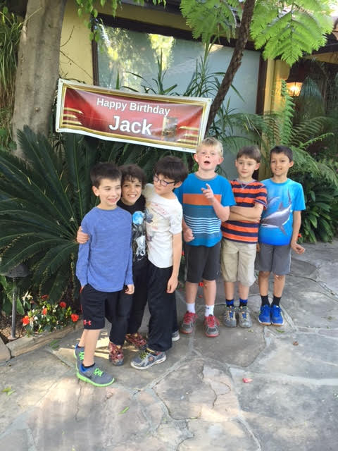 Happy birthday Jack banner and the boys 2015