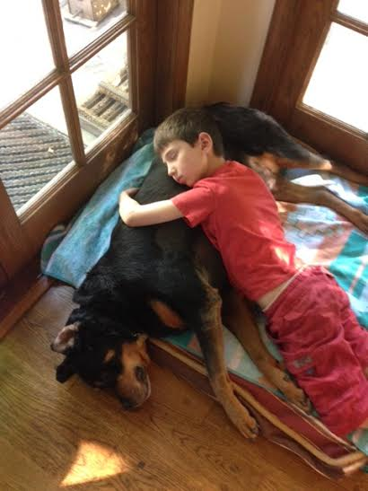 Jack and Sunny sleeping together APril 3 2015