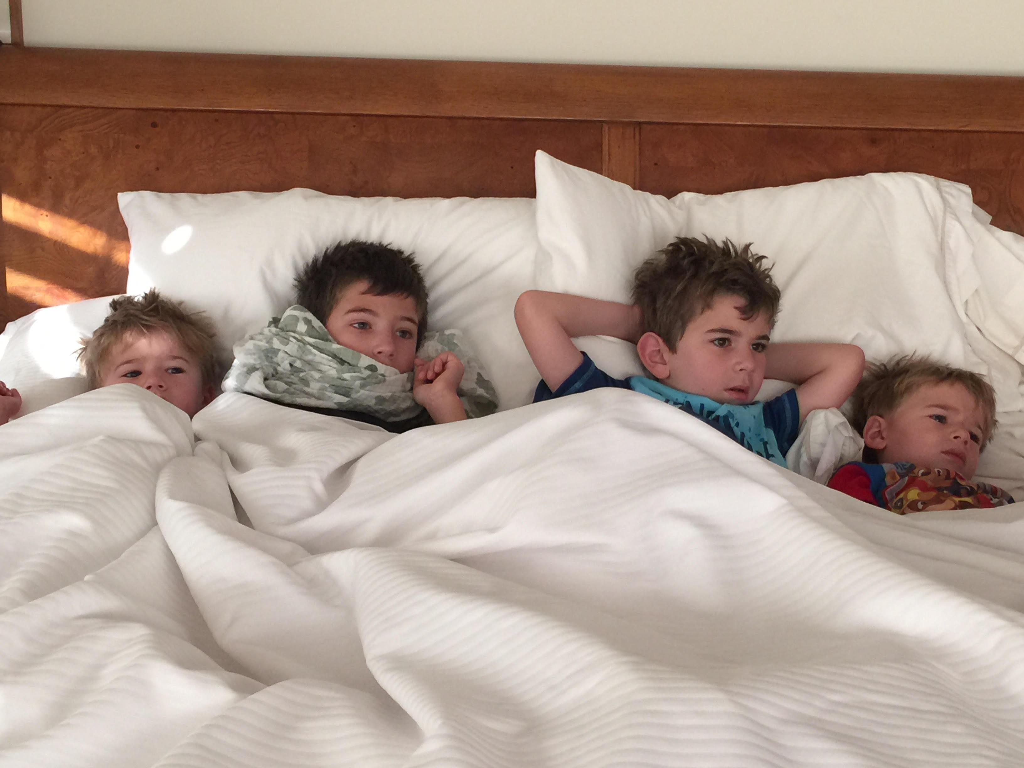Jack Jonah Noah Gabe first time sleeping over Jun 20 2015