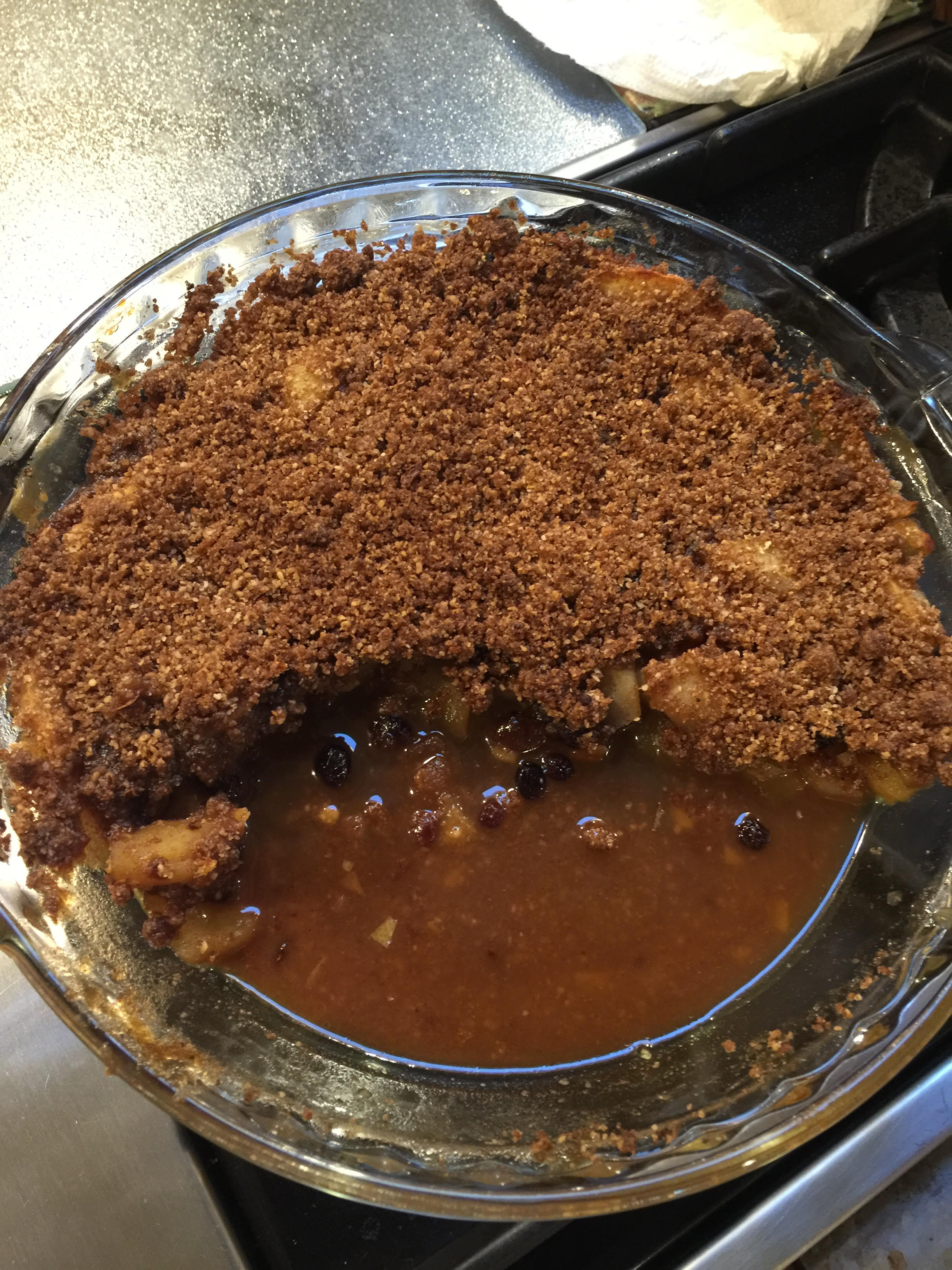 Apple Mincemeat Crumble Dec 2015
