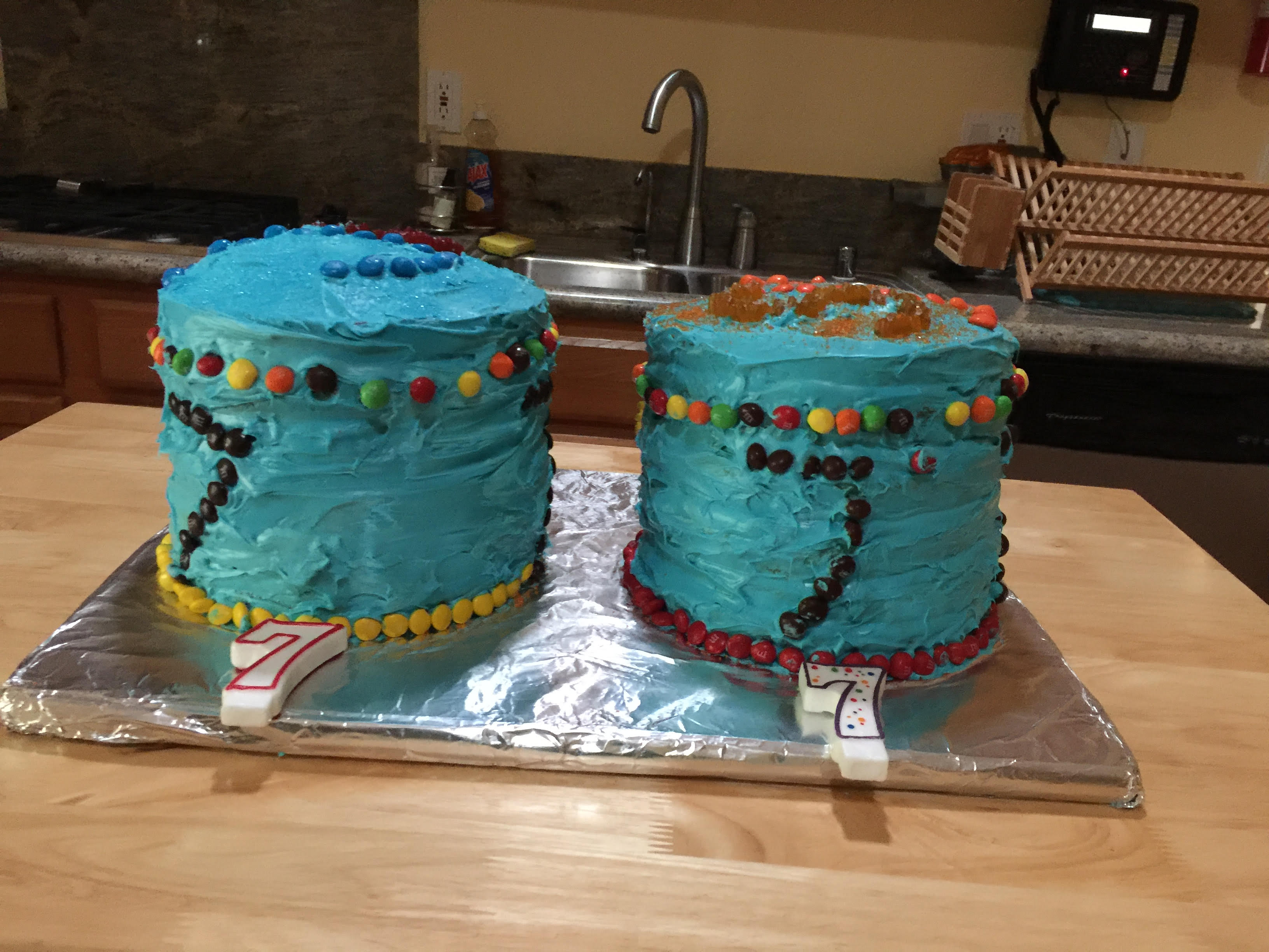 Jonah Rainbow cakes complete 2 -2016 7th bdat
