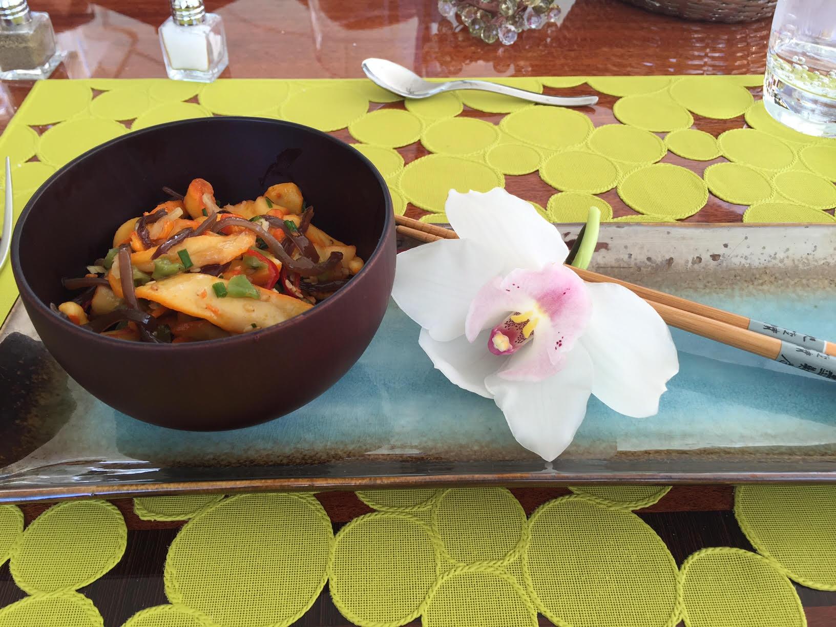 Asian Octopus salad on Kai