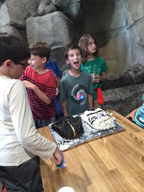 Jack loved his bday cake Star Wars Stormtrouper and Darth Vader